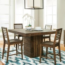 Modern Gatherings - Gathering Height Dining Table Top - Brushed Acacia Finish