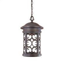"""11"""" Hanging Lantern in Mediterranean Patina"""
