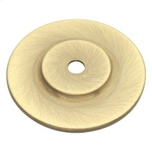 1-1/2 In. Cavalier Antique Brass Knob Backplate
