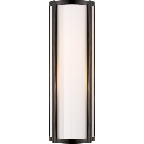 Visual Comfort AH2023GM-WG Alexa Hampton Basil 1 Light 6 inch Gun Metal Bath Wall Light