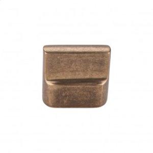 Aspen Flat Sided Knob 7/8 Inch (c-c) - Light Bronze