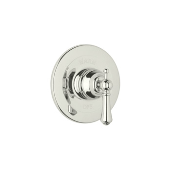 Polished Nickel Perrin & Rowe® Georgian Era Pressure Balance Trim Without Diverter with Georgian Era Style Solid Metal Lever