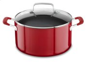 Aluminum Nonstick 6.0-Quart Stockpot with Lid - Empire Red Product Image