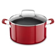 Aluminum Nonstick 6.0 Quart Stockpot with lid - Empire Red Product Image