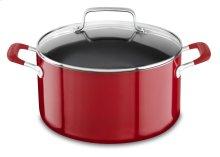 Aluminum Nonstick 6.0 Quart Stockpot with lid - Empire Red