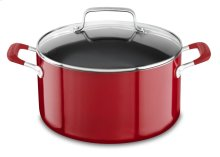 Aluminum Nonstick 6.0-Quart Stockpot with Lid - Empire Red