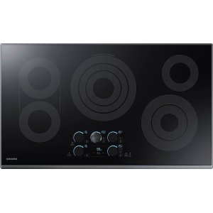 "Samsung36"" Electric Cooktop with Sync Elements"