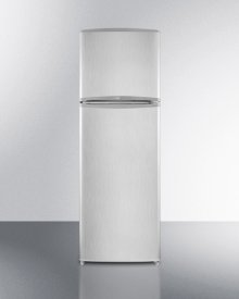 Frost-free Refrigerator-freezer In Platinum and Stainless Steel Finish, With Icemaker and 10.1 CU.FT. Capacity