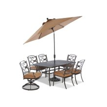 Lowell Bay 9' Auto Tilt Market Umbrella