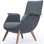 Fleur Fabric Accent Chair Natural Legs, Moonbeam Product Image