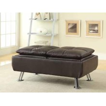 Dilleston Contemporary Brown Ottoman