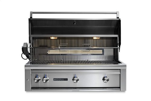 """42"""" Sedona by Lynx Built In Grill with 2 Stainless Steel Burners and ProSear Burner and Rotisserie, NG"""