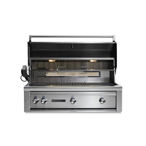 """42"""" Sedona by Lynx Built In Grill with 3 Stainless Steel Burners and Rotisserie, NG"""