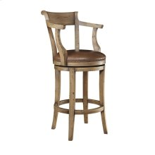 Hartford Upholstery Seat Swivel Stool, with arms