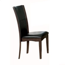 Side Chair, Dark Brown Bi-Cast Vinyl
