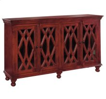 Wooden 4-Door Sideboard