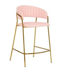 Padma Blush Vegan Leather Counter Stool - Set of 2
