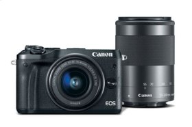 Canon EOS M6 EF-M 15-45mm f/3.5-6.3 & EF-M 55-200mm f/4.5-6.3 IS STM Bundle Black EOS M Series Digital Cameras