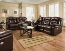 Double Reclining Console Sofa with Power Headrest Product Image