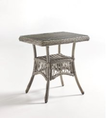 West Bay End Table - Glass Top