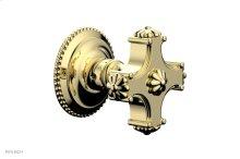 MARVELLE Volume Control/Diverter Trim - Blade Handle 162-35 - Polished Brass