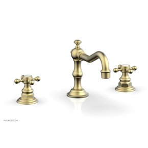 HENRI Widespread Faucet - Cross Handles 161-01 - Burnished Gold