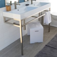 Optional solid surface shelf for metal console stand AQS-BX-48,