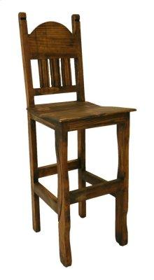 "30"" Barstool W/Wood Seat Medio Finish"
