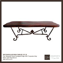 Rectangular Dining Iron Table