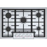 "Bosch BenchmarkBenchmark 30"" Gas Cooktop, 5 Burners, Stainless Steel"
