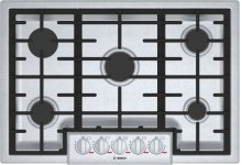 """Benchmark 30"""" Gas Cooktop, 5 Burners, Stainless Steel"""