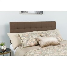 Bedford Tufted Upholstered Queen Size Headboard in Dark Brown Fabric