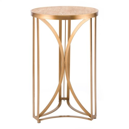 Spinner Table Lg Gold