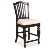 Mix-N-Match Counter Height Upholstered Chair Distressed Black finish