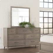 Vogue - Landscape Mirror - Gray Wash Finish Product Image