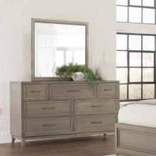 Vogue - Landscape Mirror - Gray Wash Finish