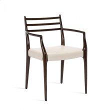 Beckham Arm Chair - Walnut/ Cream
