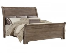 Whiskey Barrel - Sleigh Bed (King)