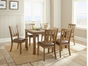 "Ander Dining Table 60'x36""x30"" with 6 Chairs Product Image"