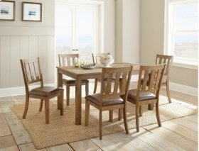 "Ander Dining Table 60'x36""x30"" with 6 Chairs"