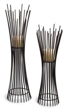 Metal Candleholder Duo - Set of 2