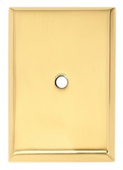 Traditional Backplate A610-14 - Polished Brass