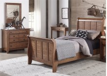 Twin Sleigh Bed, Dresser & Mirror