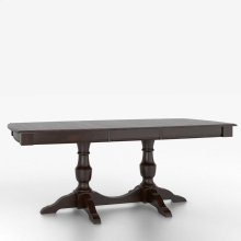Boat shape table with pedestal