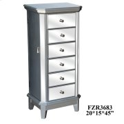 Sterling Silver and Mirror Jewelry Armoire Product Image