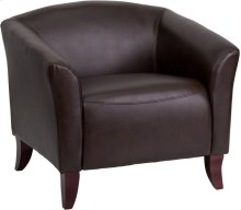 HERCULES Imperial Series Brown Leather Chair