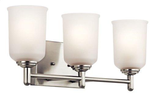 Shailene 3 Light Vanity Light Brushed Nickel
