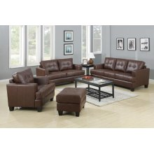 Samuel Transitional Brown Three-piece Living Room Set