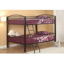 Full/full Black Convertible Bunk Bed