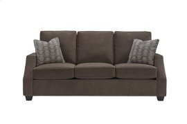 3 Cushion Sofa - Chocolate Twill Microfiber Finish